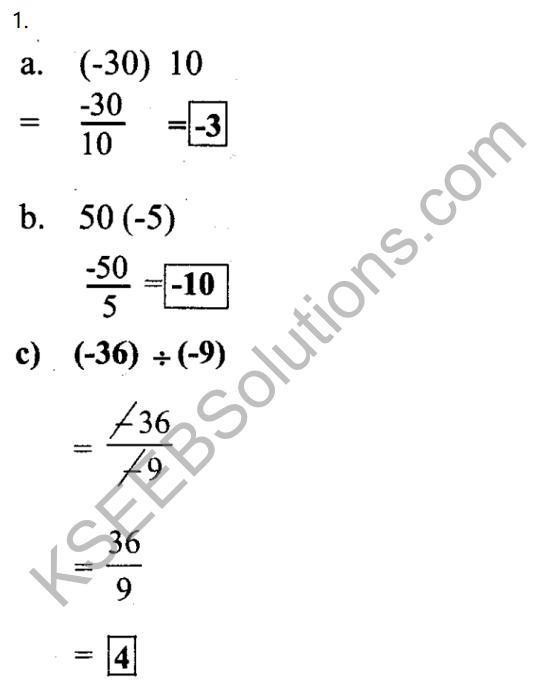 KSEEB Solutions for Class 7 Maths Chapter 1 Purnamsagalu Ex 1.4 1