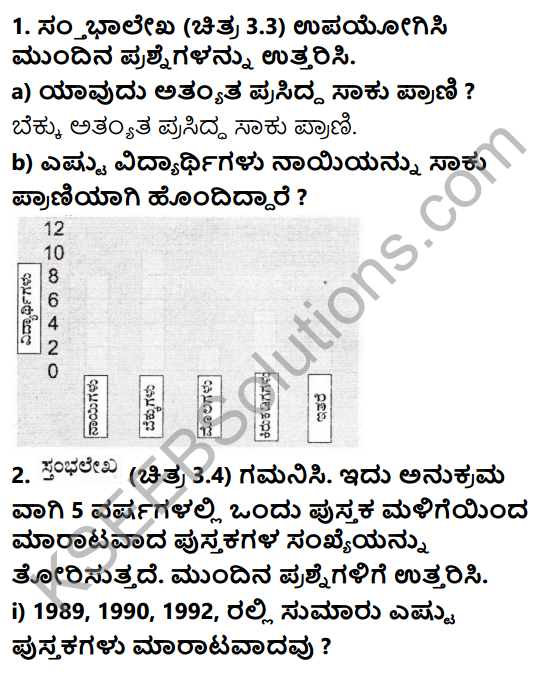 KSEEB Solutions for Class 7 Maths Chapter 3 Dattamgala Nirvahane Ex 3.3 1