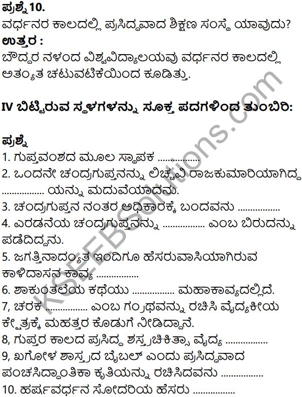 KSEEB Solutions for Class 8 History Chapter 8 Guptaru Mattu Vardanaru in Kannada 11