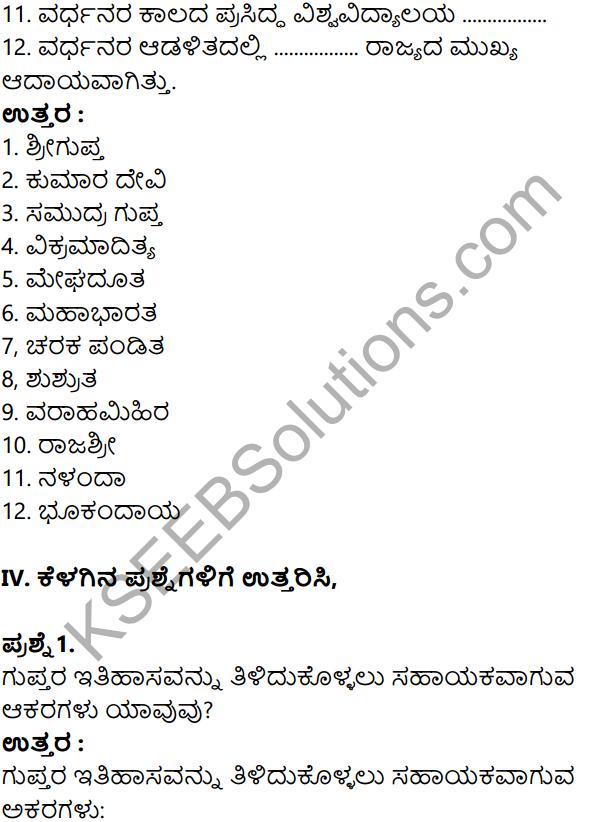 KSEEB Solutions for Class 8 History Chapter 8 Guptaru Mattu Vardanaru in Kannada 12