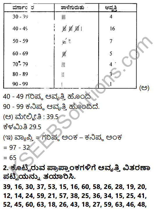 KSEEB Solutions for Class 8 Maths Chapter 13 Sankhya Shastra Ex 13.1 2