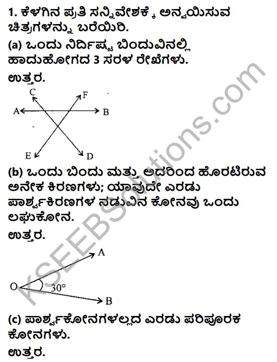 KSEEB Solutions for Class 8 Maths Chapter 3 Swayam Siddhagalu, Adhara Pratignegalu Mattu Prameyagalu Ex 3.2 1