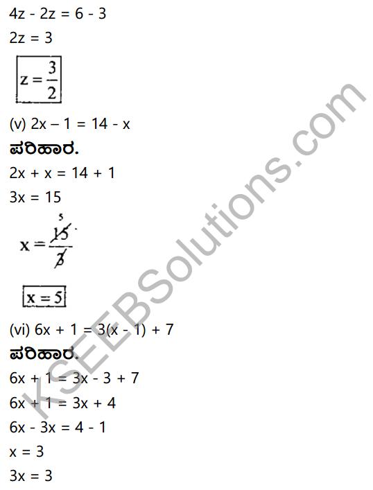 KSEEB Solutions for Class 8 Maths Chapter 8 Ondu Charaksharavulla Sarala Rekhatmaka Samikaranagalu Ex 8.1 9