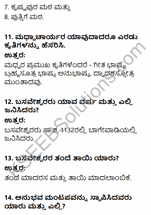 2nd PUC History Question Bank Chapter 6 Socio-Religious Reform Movement In Medieval India in Kannada 11