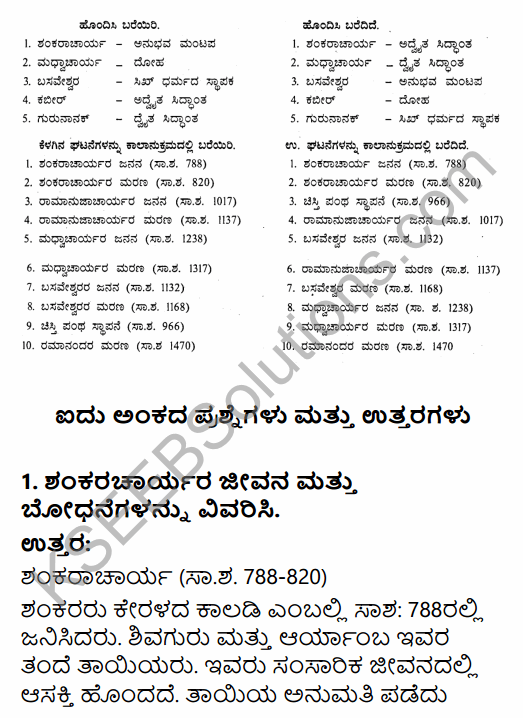 2nd PUC History Question Bank Chapter 6 Socio-Religious Reform Movement In Medieval India in Kannada 16