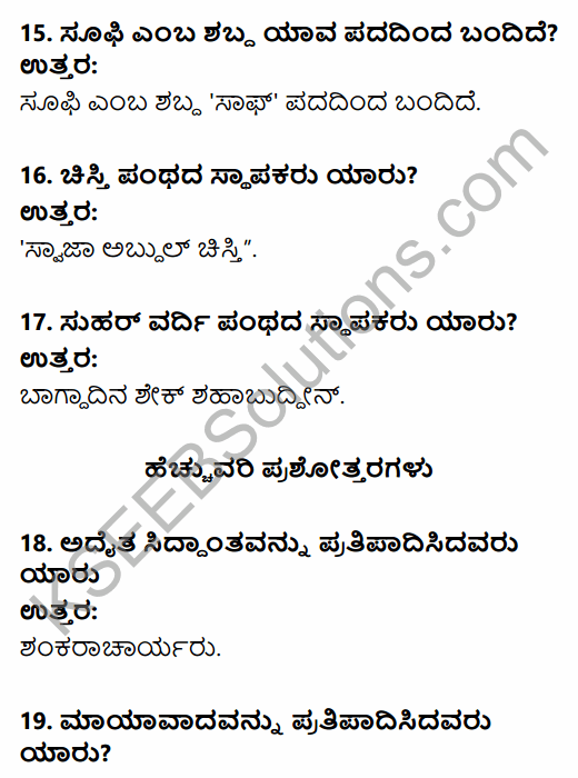 2nd PUC History Question Bank Chapter 6 Socio-Religious Reform Movement In Medieval India in Kannada 4