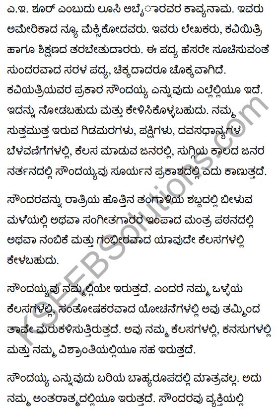 Beauty Poem Summary in Kannada 1