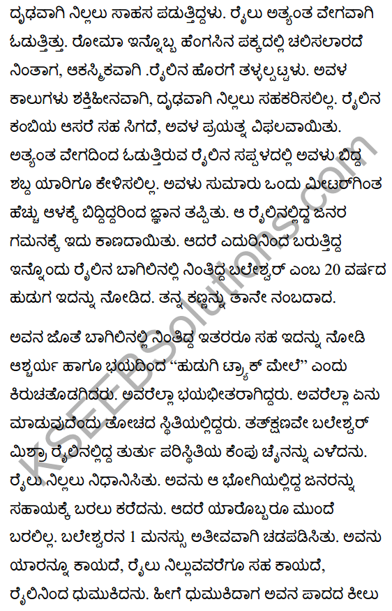 There's a Girl by the Tracks! Summanry in Kannada 2