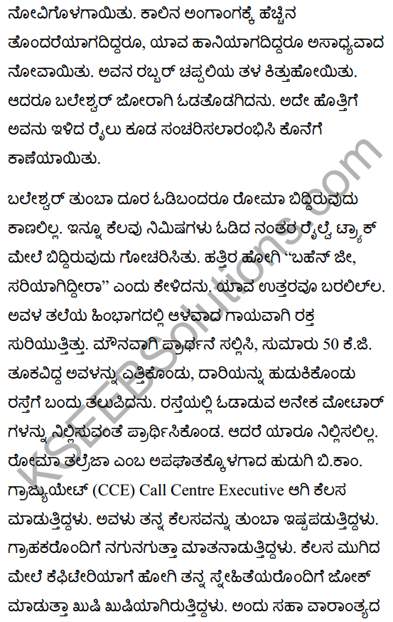 There's a Girl by the Tracks! Summanry in Kannada 3