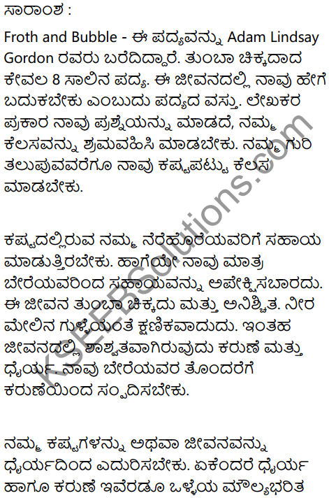 Froth and Bubble Summary In Kannada 1