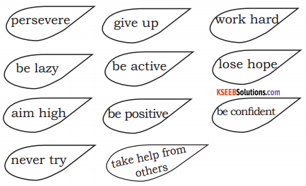 KSEEB Solutions for Class 6 English Poem Chapter 6 The Way to Succeed 1