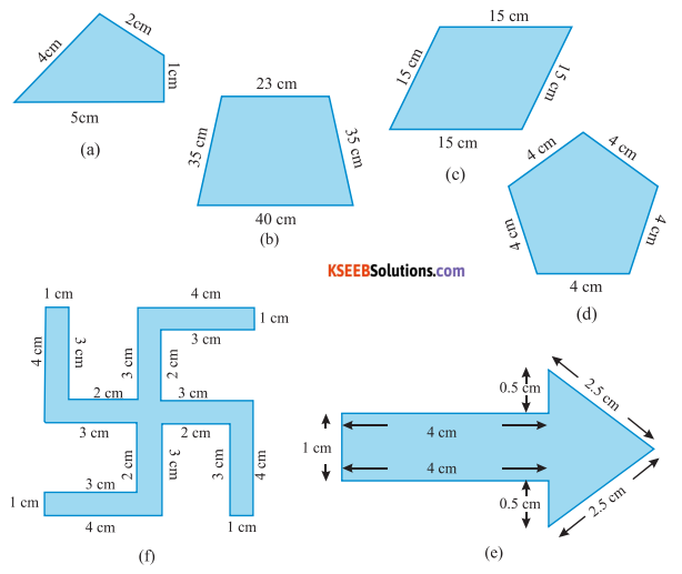 KSEEB Solutions for Class 6 Maths Chapter 10 Mensuration Ex 10.1 1