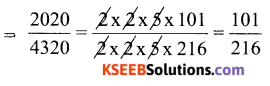 KSEEB Solutions for Class 6 Maths Chapter 12 Ratio and Proportion Ex 12.1 66