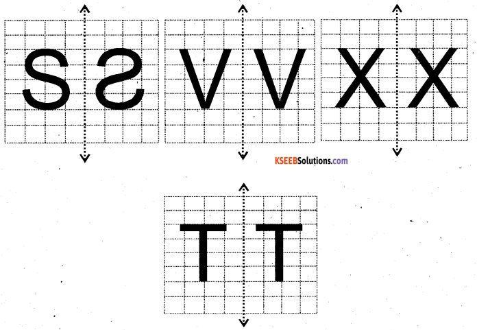 KSEEB Solutions for Class 6 Maths Chapter 13 Symmetry Ex 13.3 8