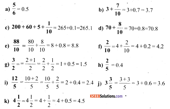 KSEEB Solutions for Class 6 Maths Chapter 8 Decimals Ex 8.1 6