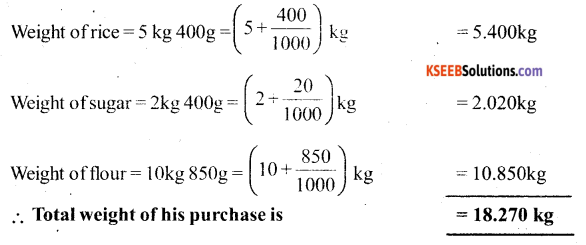 KSEEB Solutions for Class 6 Maths Chapter 8 Decimals Ex 8.5 22