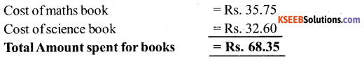 KSEEB Solutions for Class 6 Maths Chapter 8 Decimals Ex 8.5 7