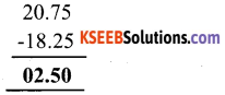 KSEEB Solutions for Class 6 Maths Chapter 8 Decimals Ex 8.6 1