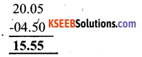 KSEEB Solutions for Class 6 Maths Chapter 8 Decimals Ex 8.6 12