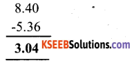 KSEEB Solutions for Class 6 Maths Chapter 8 Decimals Ex 8.6 3