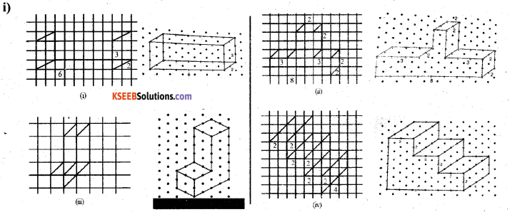 KSEEB Solutions for Class 7 Maths Chapter 15 Visualising Solid Shapes Ex 15.2 1
