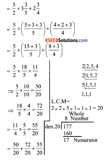 KSEEB Solutions for Class 7 Maths Chapter 2 Fractions and Decimals Ex 2.1 31