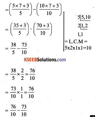 KSEEB Solutions for Class 7 Maths Chapter 2 Fractions and Decimals Ex 2.1 40