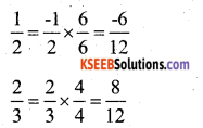 KSEEB Solutions for Class 7 Maths Chapter 9 Rational Numbers Ex 9.1 12