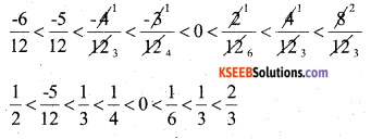 KSEEB Solutions for Class 7 Maths Chapter 9 Rational Numbers Ex 9.1 14