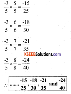 KSEEB Solutions for Class 7 Maths Chapter 9 Rational Numbers Ex 9.1 17