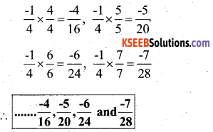 KSEEB Solutions for Class 7 Maths Chapter 9 Rational Numbers Ex 9.1 20