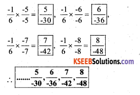 KSEEB Solutions for Class 7 Maths Chapter 9 Rational Numbers Ex 9.1 23