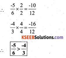 KSEEB Solutions for Class 7 Maths Chapter 9 Rational Numbers Ex 9.1 73