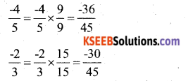 KSEEB Solutions for Class 7 Maths Chapter 9 Rational Numbers Ex 9.1 8