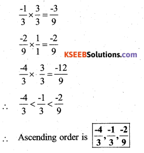 KSEEB Solutions for Class 7 Maths Chapter 9 Rational Numbers Ex 9.1 82