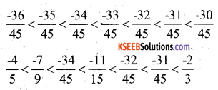 KSEEB Solutions for Class 7 Maths Chapter 9 Rational Numbers Ex 9.1 9