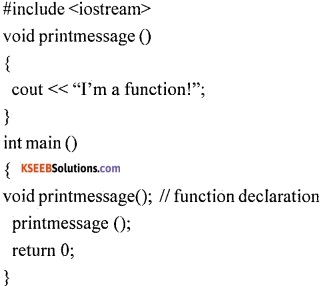 1st PUC Computer Science Question Bank Chapter 13 User Defined Functions 1