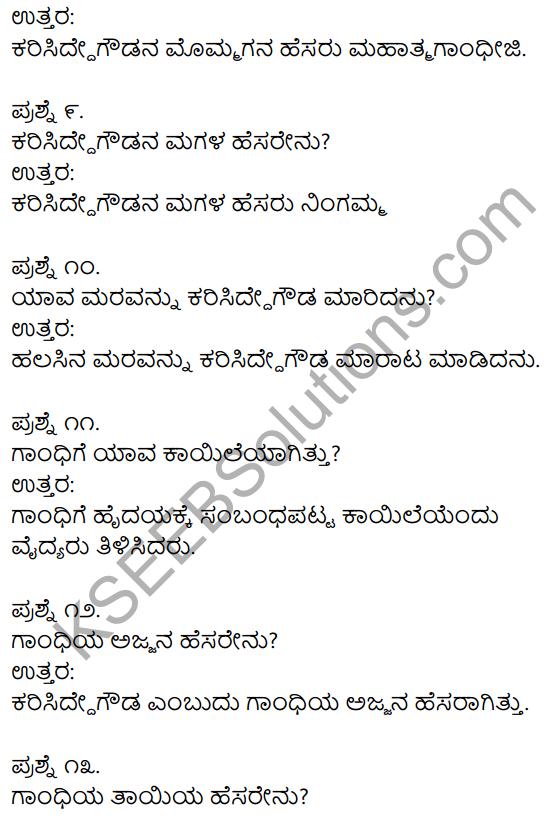 Gandhi Class 11 Kannada Notes KSEEB Solution