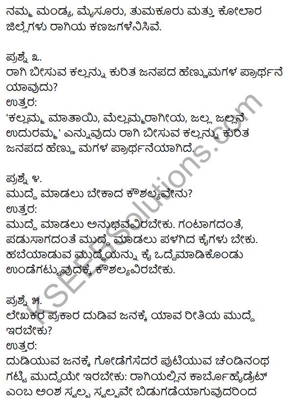 Ragi Mudde Lesson In Kannada KSEEB Solutions