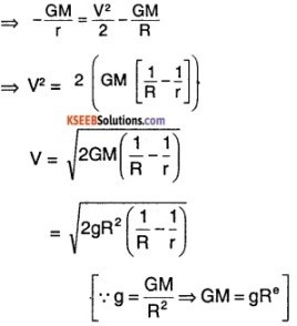 1st PUC Physics Question Bank Chapter 8 Gravitation img 54