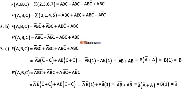 2nd PUC Computer Science Boolean Algebra Five Marks Questions and Answers 68