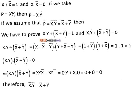 2nd PUC Computer Science Boolean Algebra Five Marks Questions and Answers 70