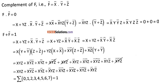 2nd PUC Computer Science Boolean Algebra Five Marks Questions and Answers 71