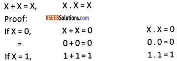 2nd PUC Computer Science Boolean Algebra Three Marks Questions and Answers 43