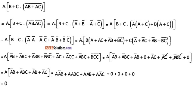 2nd PUC Computer Science Boolean Algebra Three Marks Questions and Answers 61
