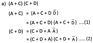 2nd PUC Computer Science Boolean Algebra Two Marks Questions and Answers 24