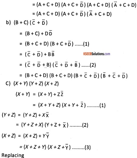2nd PUC Computer Science Boolean Algebra Two Marks Questions and Answers 25