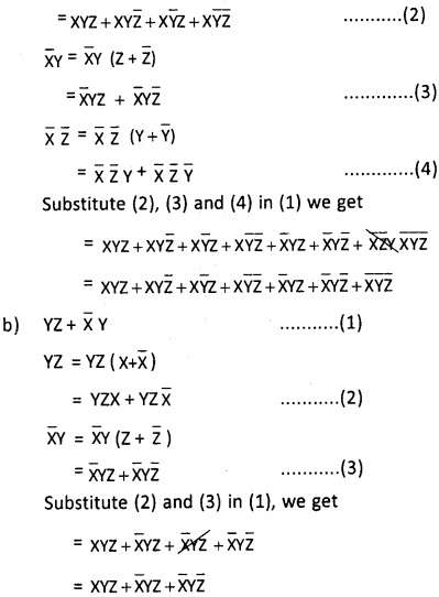 2nd PUC Computer Science Boolean Algebra Two Marks Questions and Answers 29
