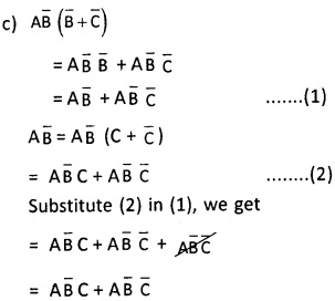 2nd PUC Computer Science Boolean Algebra Two Marks Questions and Answers 30