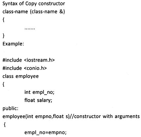 2nd PUC Computer Science Question Bank Chapter 9 Constructors and Destructors 5